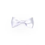 White Satin Medium Bow