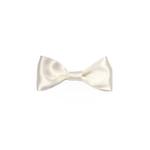Ivory Satin Medium Bow