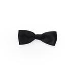 Black Satin Medium Bow