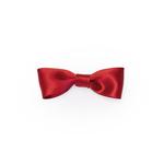 Dark Red Satin Medium Bow