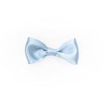 Baby Blue Satin Medium Bow