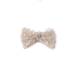 Lace Embroided Small Champagne Bow